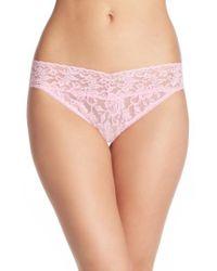 Hanky Panky   Pink Regular Rise Lace Thong   Lyst