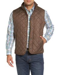 Peter Millar | Brown Essex Quilted Vest for Men | Lyst
