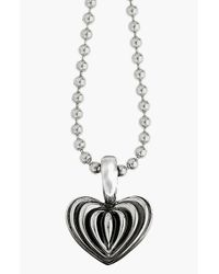 Lagos - Metallic Sterling Silver Heart Long Pendant Necklace - Lyst