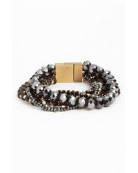 Serefina - Black Layered Statement Bracelet - Lyst