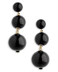 Kate Spade - Black Golden Girl Bauble Drop Earrings - Lyst
