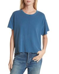 The Great - Blue The Crop Tee - Lyst