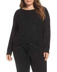 Make + Model - Black Graphic Brushed Hacci Sweatshirt - Lyst