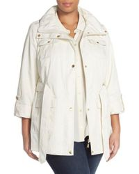 Ellen Tracy - Natural Short Techno Trench Coat - Lyst