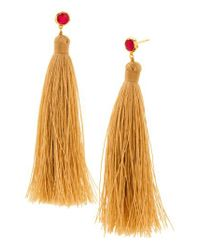 Gorjana | Metallic Tulum Tassel Earrings | Lyst