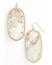 Kendra Scott | Metallic 'danielle - Large' Oval Statement Earrings | Lyst