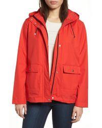 Bernardo - Blue Microbreathable Hooded Raincoat - Lyst