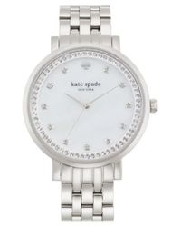 Kate Spade - Metallic 'monterey' Crystal Dial Bracelet Watch - Lyst