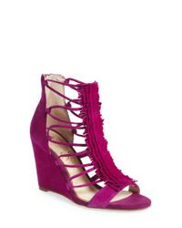 Jessica Simpson - Purple 'beccy' Wedge Sandal - Lyst