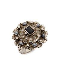 Alexander McQueen | Metallic Jeweled Ring | Lyst