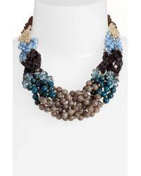Nakamol - Blue Braided Short Necklace - Lyst