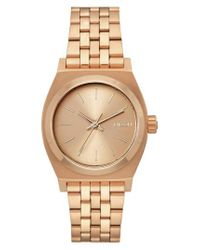 Nixon - Metallic Time Teller Bracelet Watch - Lyst