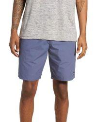 Obey - Blue Legacy Ii Drawstring Shorts for Men - Lyst
