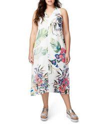 RACHEL Rachel Roy | Multicolor Print Maxi Dress | Lyst