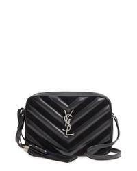 Saint Laurent - Black Medium Lou Leather & Suede Camera Bag - Lyst