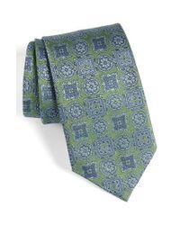 David Donahue - Green Medallion Silk Tie for Men - Lyst