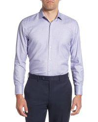 BOSS - Purple Marley Sharp Fit Plaid Dress Shirt for Men - Lyst