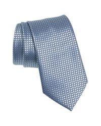Ermenegildo Zegna - Blue Geometric Silk Tie for Men - Lyst