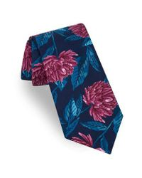 Ted Baker - Blue Oversize Flower Tie for Men - Lyst