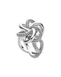 Lagos   Metallic 'love Knot' Twist Ring   Lyst