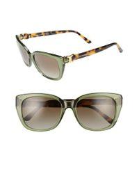 Tory Burch - 56mm Cat Eye Sunglasses - Dark Green - Lyst