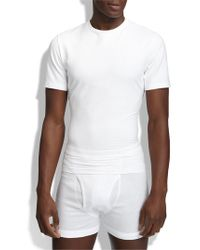 Spanx | White Spanx Crewneck Cotton Compression T-shirt for Men | Lyst