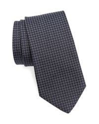 John Varvatos - Blue Check Silk Tie for Men - Lyst