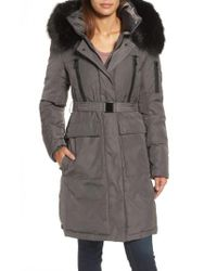 Vince Camuto | Gray Insulated Puffer Jacket | Lyst