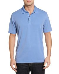 Bugatchi - Blue Textured Jersey Polo for Men - Lyst