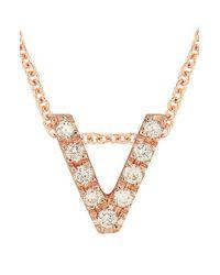 Bony Levy - Metallic Pave Diamond Initial Pendant Necklace (nordstrom Exclusive) - Lyst