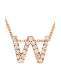 Bony Levy - Multicolor Pave Diamond Initial Pendant Necklace (nordstrom Exclusive) - Lyst
