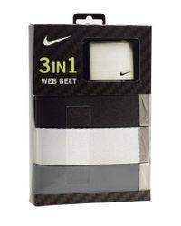 Nike - Gray Web Belts for Men - Lyst
