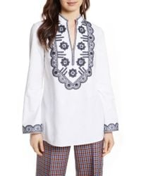 Tory Burch | White Embellished Tunic | Lyst