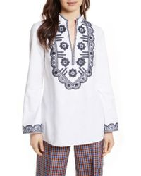 Tory Burch - White Embellished Tunic - Lyst