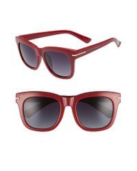 Privé Revaux - Red X Madelaine Petsch The Clique 52mm Square Sunglasses - Lyst