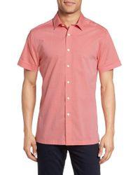 Vince Camuto - Pink Short Sleeve Sport Shirt for Men - Lyst