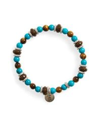 Eleventy - Blue Bead Bracelet - Lyst