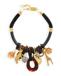 Lizzie Fortunato   Black Safari State Of Mind Collar Necklace   Lyst