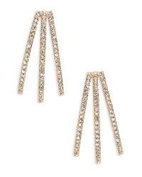 Nadri - Metallic Three-row Crystal Ear Cuffs - Lyst