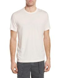 James Perse | Pink Crew-Neck Jersey T-Shirt for Men | Lyst