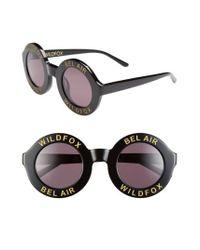 Wildfox - Black 'bel Air' 44mm Sunglasses - Lyst