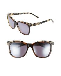 Ted Baker - Brown 54mm Polarized Cat Eye Sunglasses - Lyst