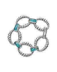 Lagos - Blue Maya Fluted Link Bracelet - Lyst