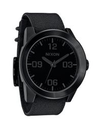 Nixon | Black 'the Corporal' Watch for Men | Lyst