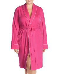 Lauren by Ralph Lauren - Pink Shawl Collar Robe - Lyst