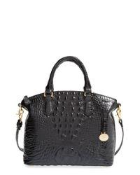 Brahmin - Black 'medium Duxbury' Croc Embossed Leather Satchel - Lyst