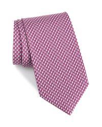 Ferragamo - Pink Eolo Print Silk Tie for Men - Lyst