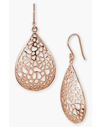 Argento Vivo | Metallic 18k Gold Plated Sterling Silver Teardrop Dome Lace Earrings | Lyst
