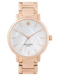 kate spade new york | Metallic 'gramercy' Bracelet Watch | Lyst