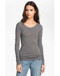 James Perse - Metallic 'ballet' Long Sleeve Tee - Lyst